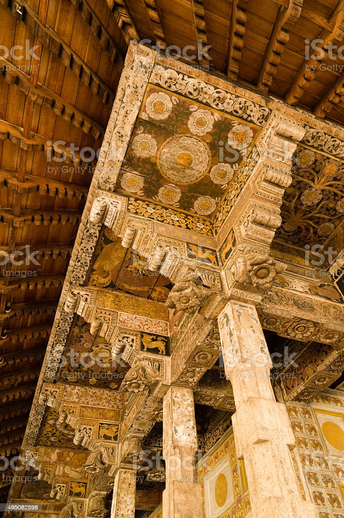 Decorations of Toth Relic Shrine Room stock photo