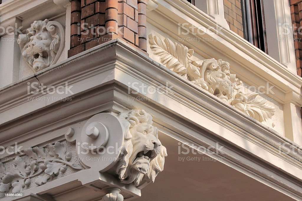 Decorations on a old building royalty-free stock photo