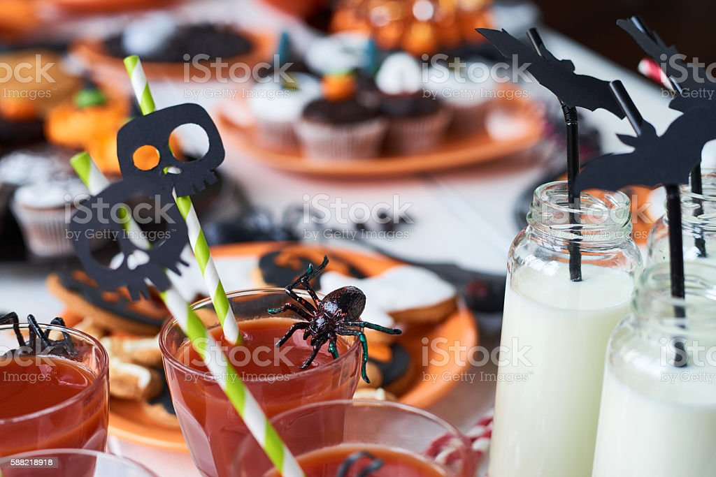 Decorations on drinking glasses stock photo