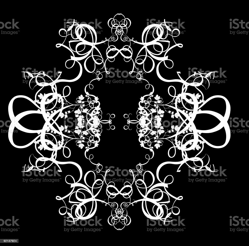 Decorative Abstract Digital Design - Circular Frame Background stock photo