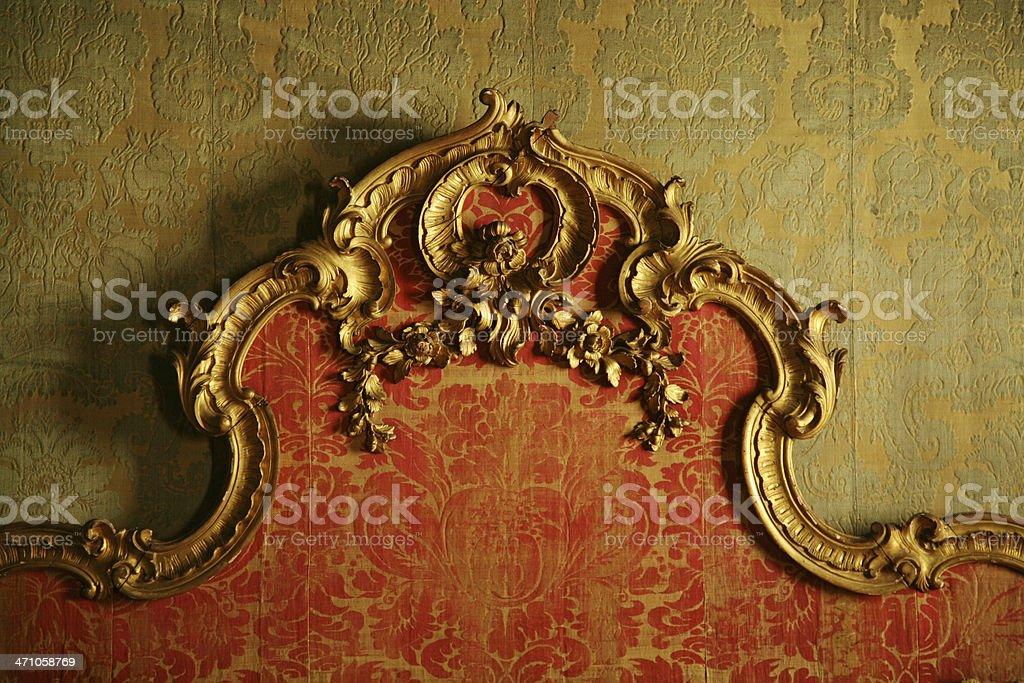 Decorative Antique Bedboard stock photo