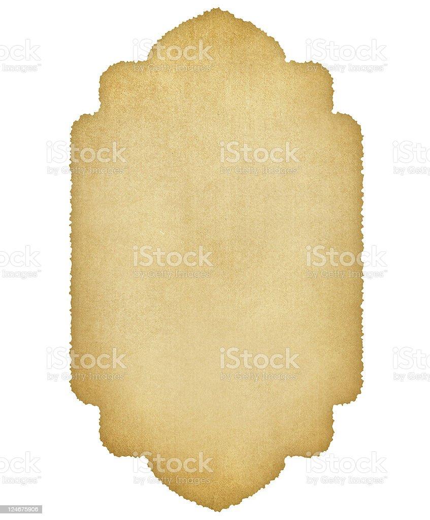 Decorative antique paper stock photo