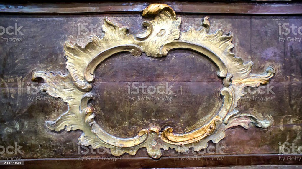 Decorative Antique Wood stock photo