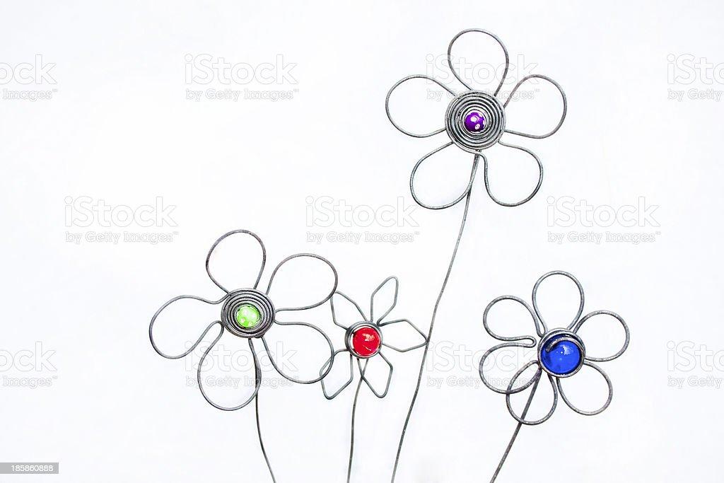 Decorative Atrificial Hand Crafted Flower Arrangement stock photo