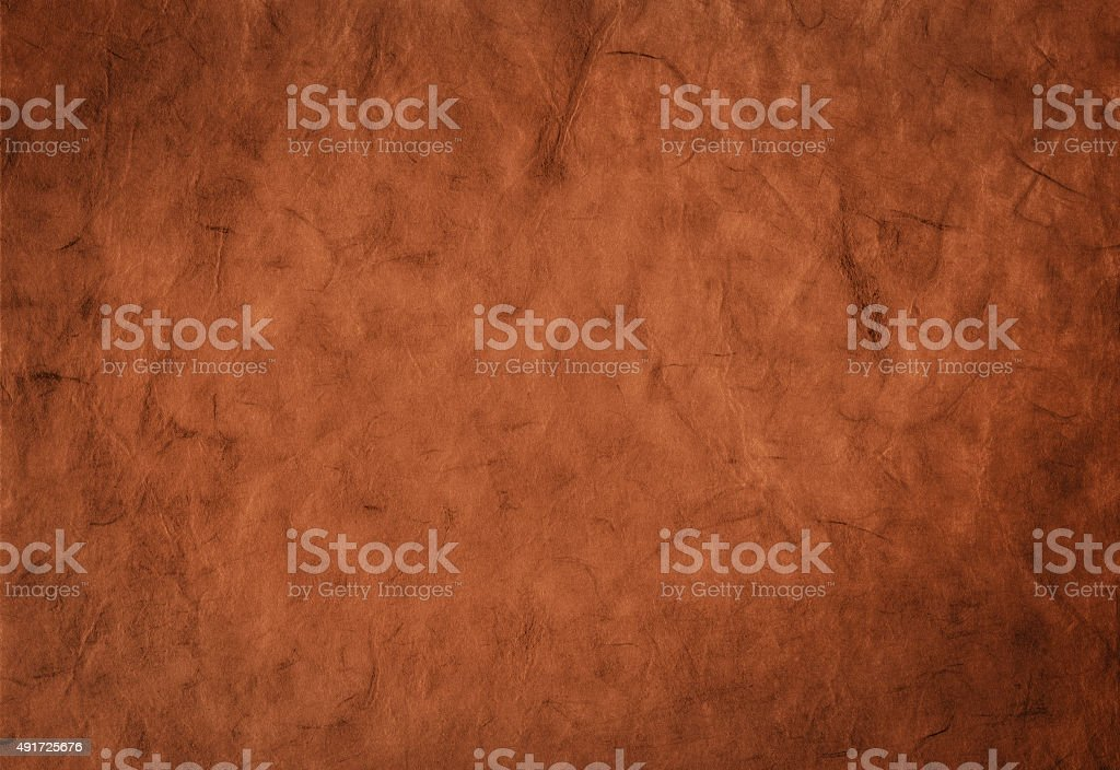 Decorative background from organic handmade artistic paper with fibers texture stock photo