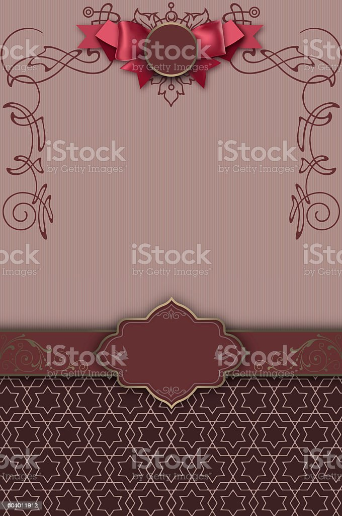 Decorative background with border,frame and patterns. stock photo
