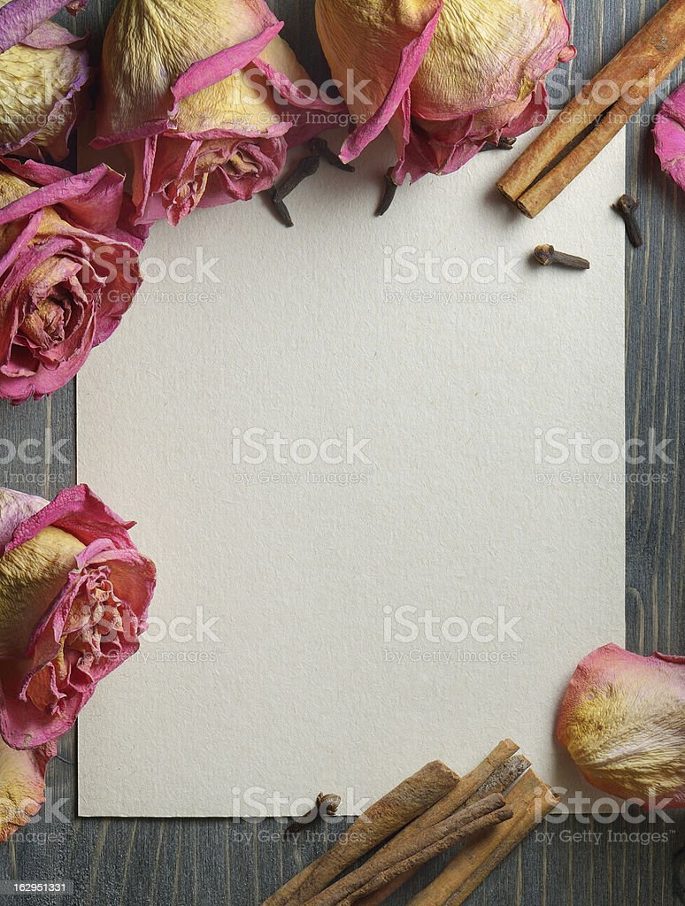 Decorative background with flowers royalty-free stock photo