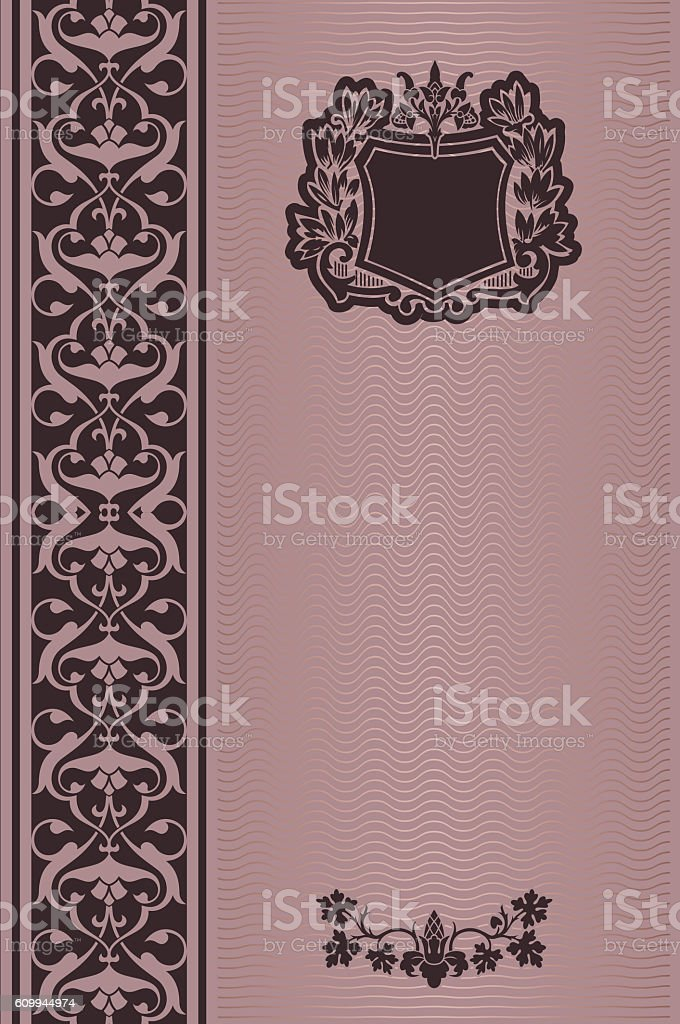 Decorative background with vintage patterns. stock photo