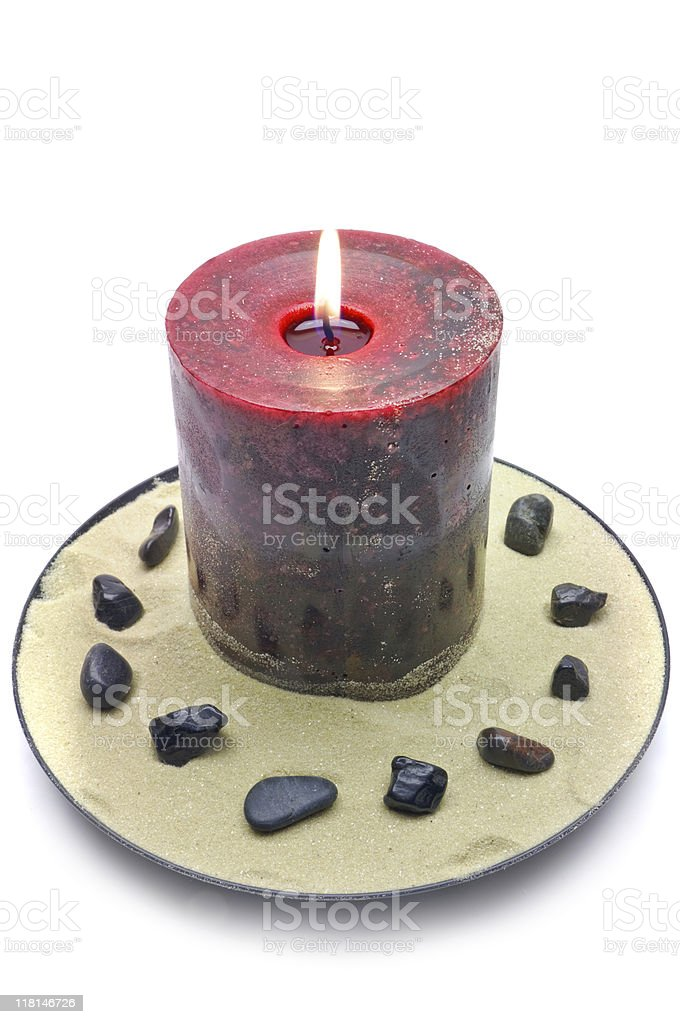 Decorative Beach Candle royalty-free stock photo