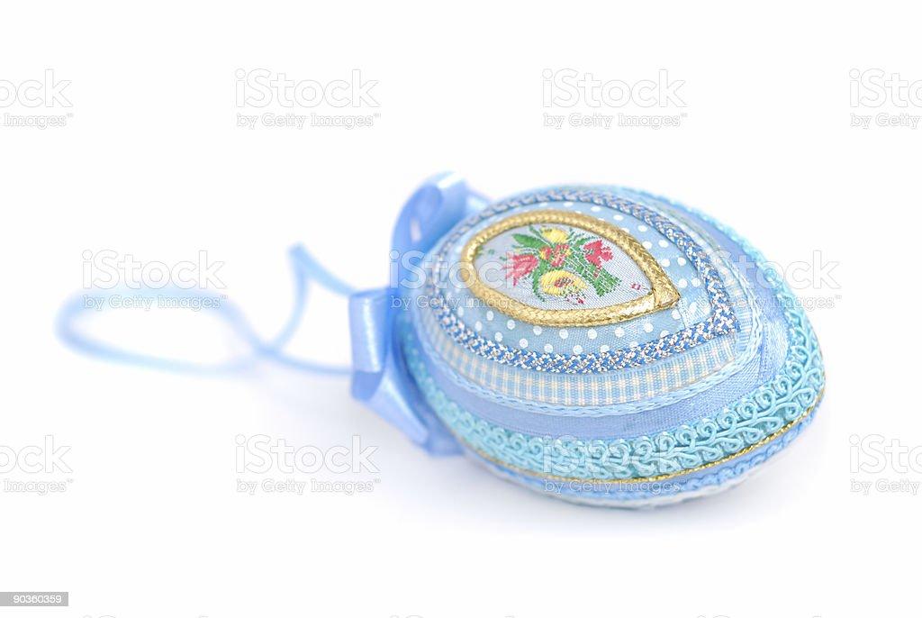 Decorative Blue Egg royalty-free stock photo