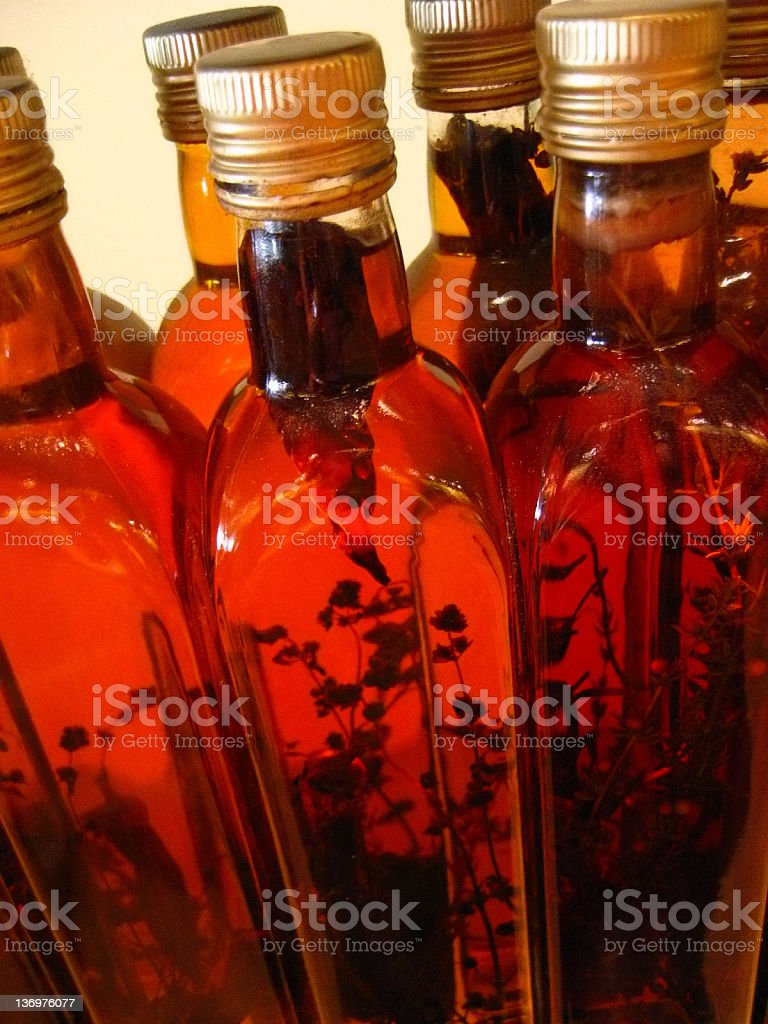 Decorative bottles royalty-free stock photo