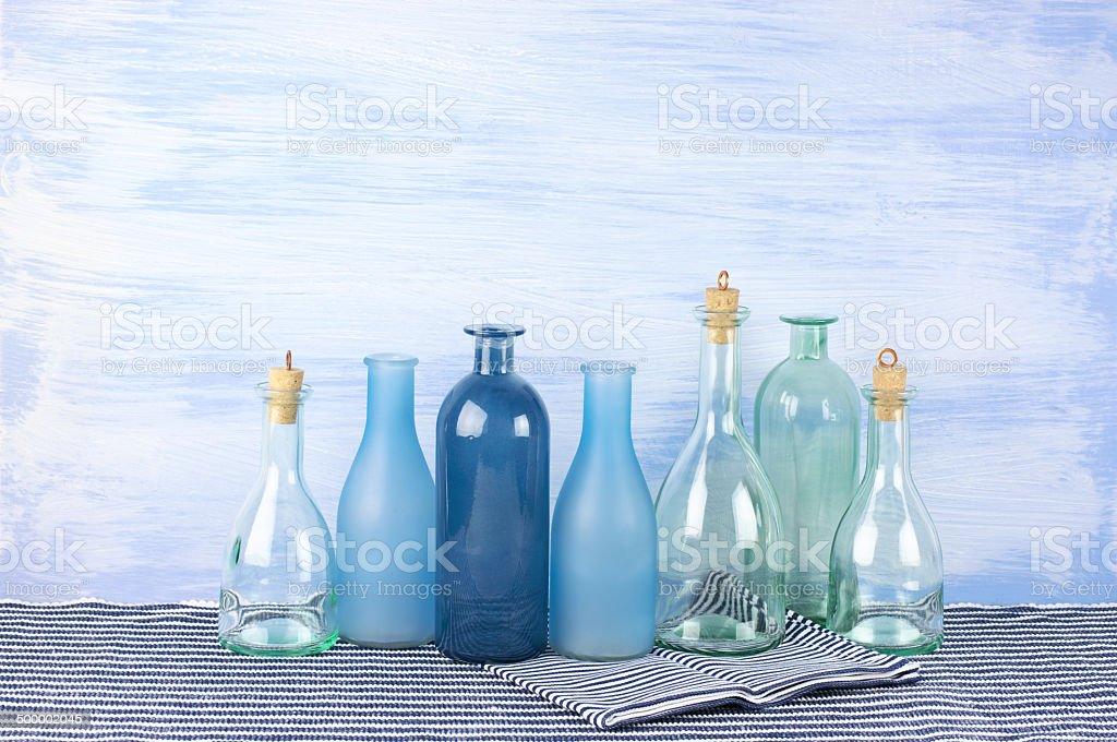 Decorative bottles set stock photo