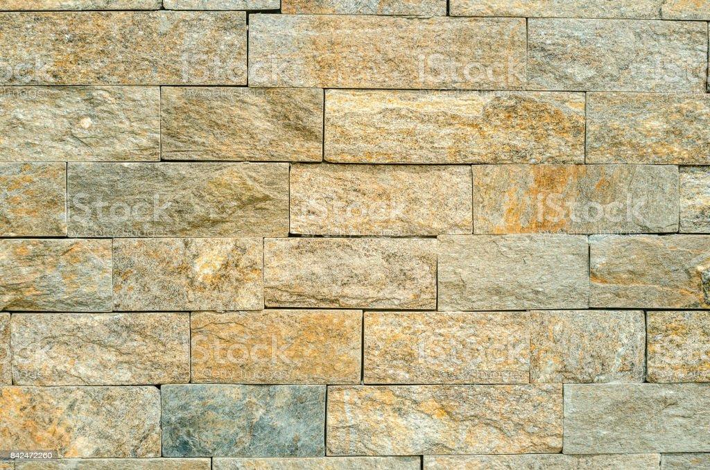 Decorative brickwork as decoration of building facade stock photo