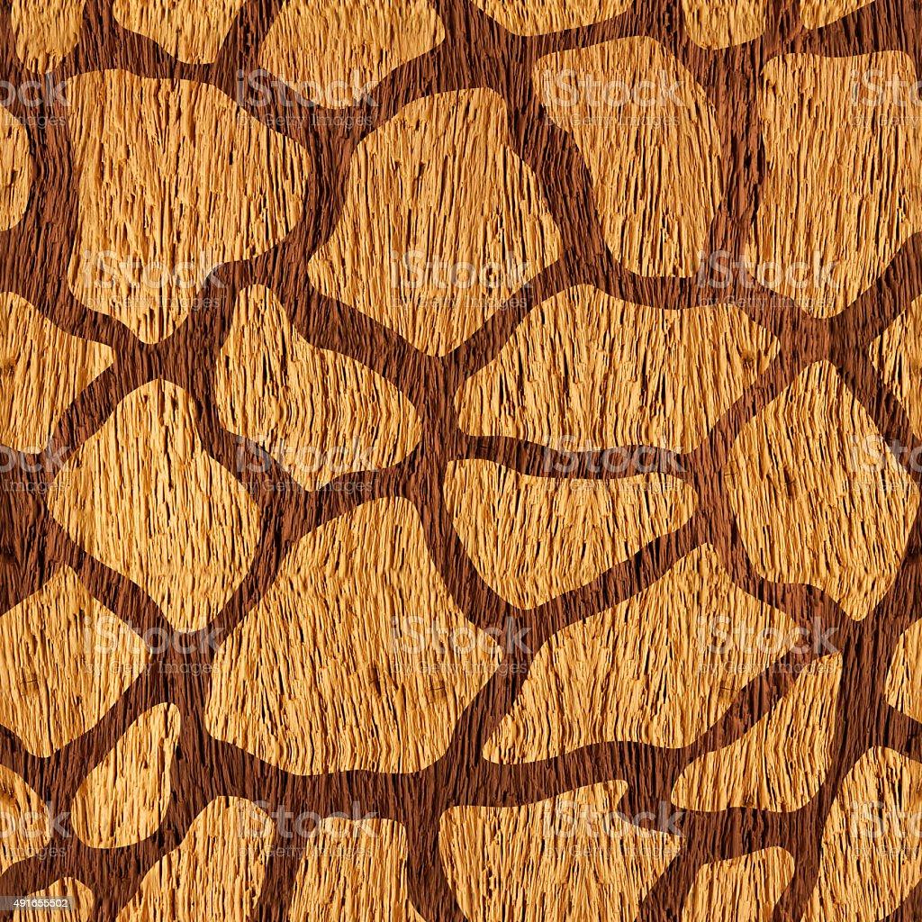 Decorative camouflage pattern - seamless background - wood surface stock photo