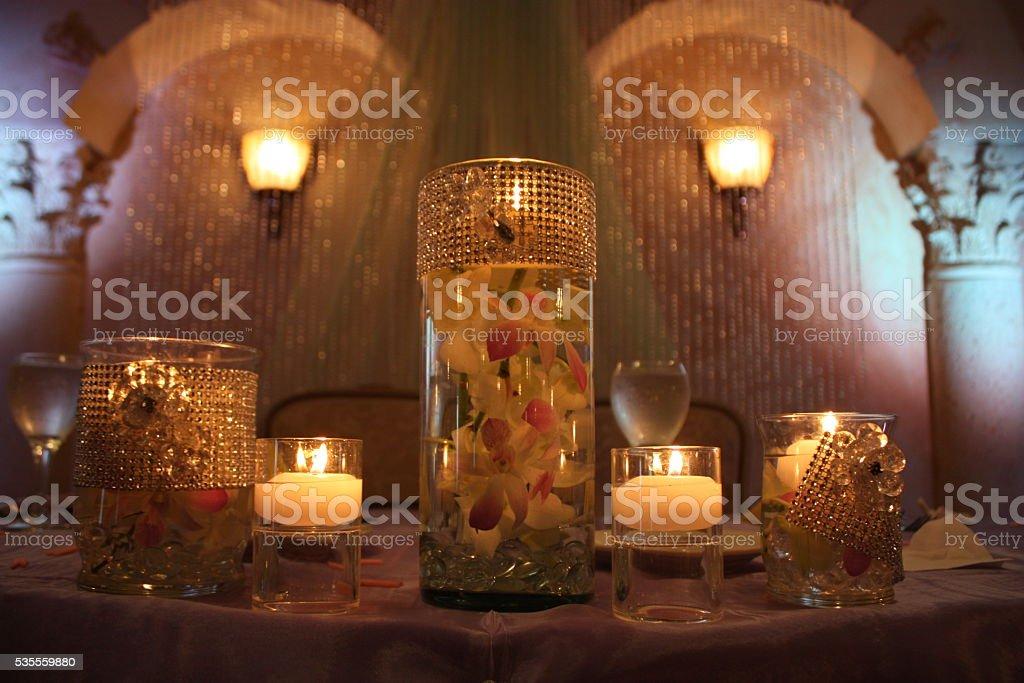 decorative candle stock photo