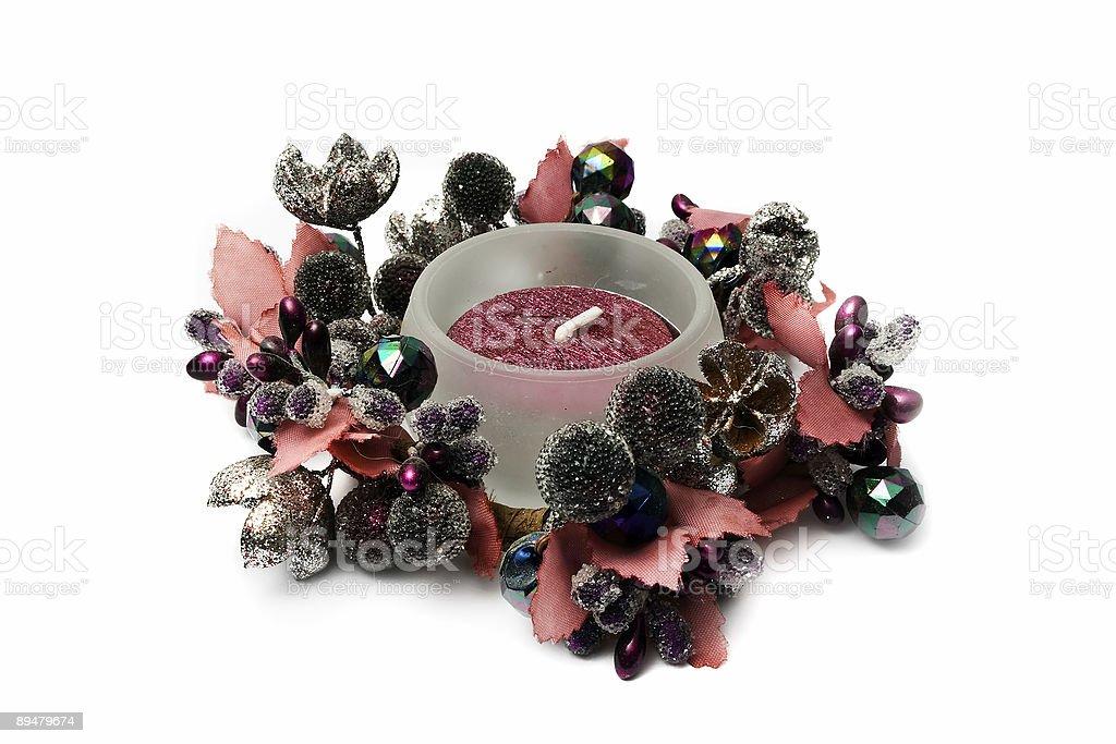 Decorative candle royalty-free stock photo