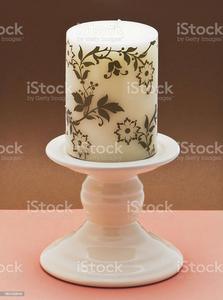Decorative ceramic candlestick royalty-free stock photo