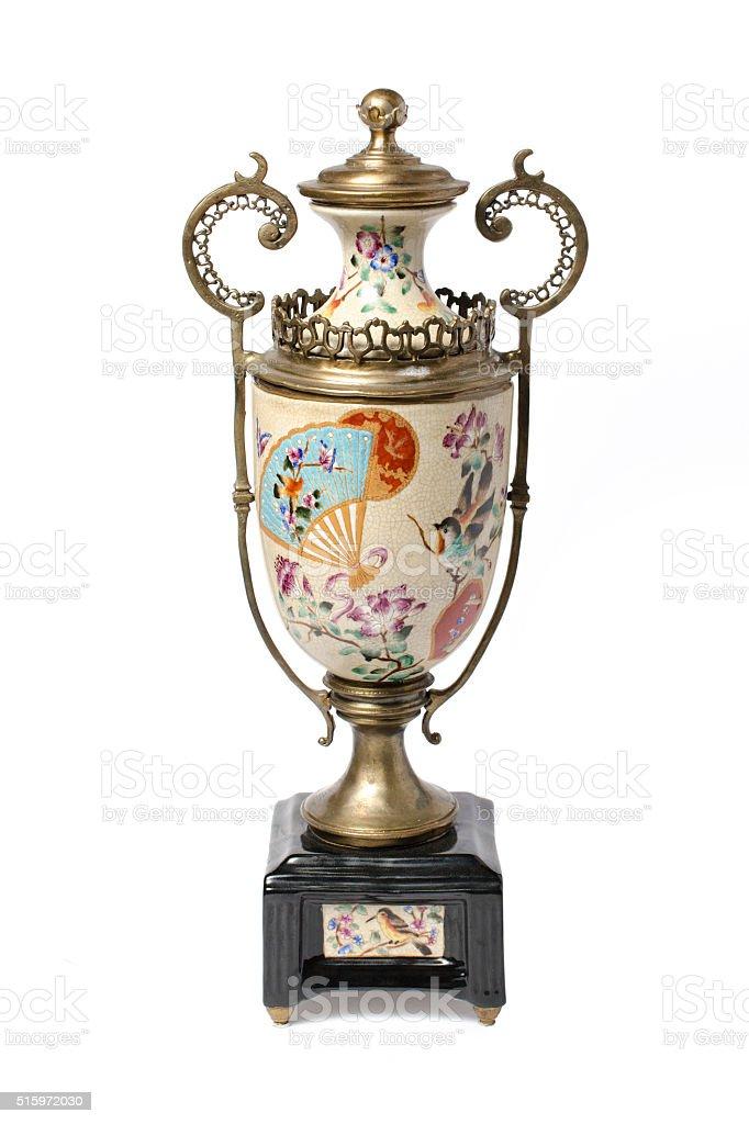 decorative ceramic vase stock photo