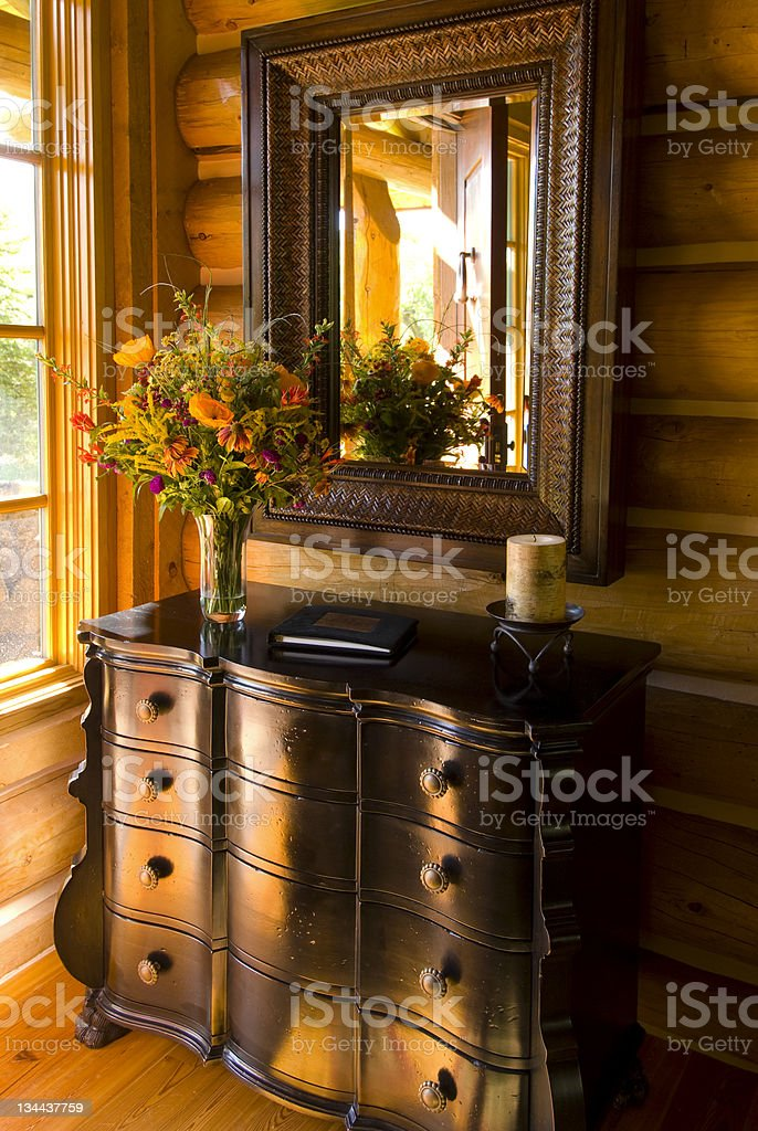 Decorative Chest and Drawers at Entryway Foyer royalty-free stock photo