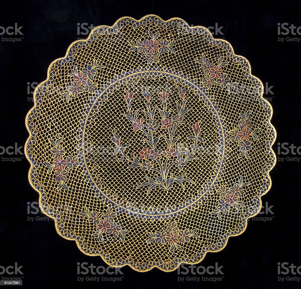 Decorative Chinese Plate stock photo