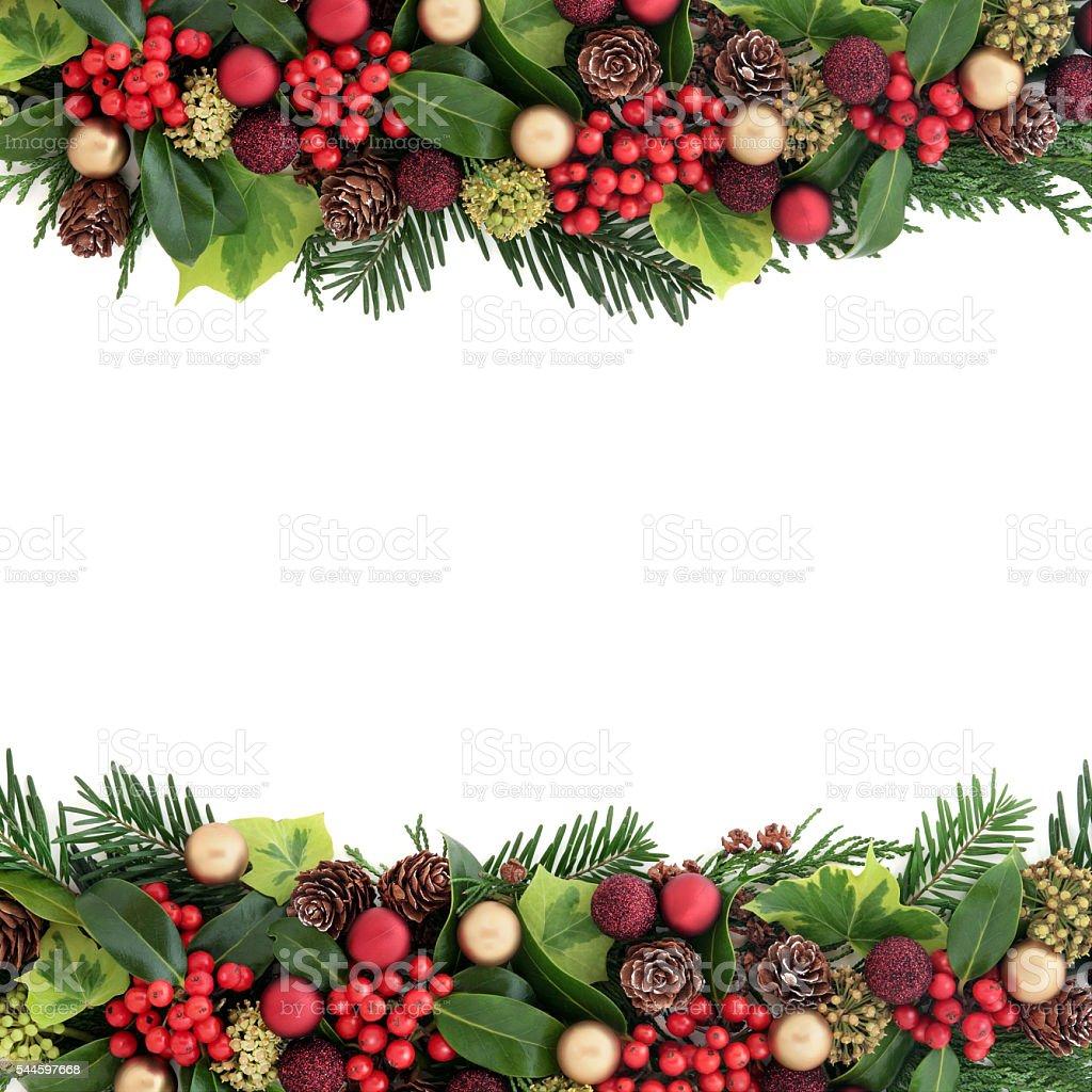 Decorative Christmas Border stock photo