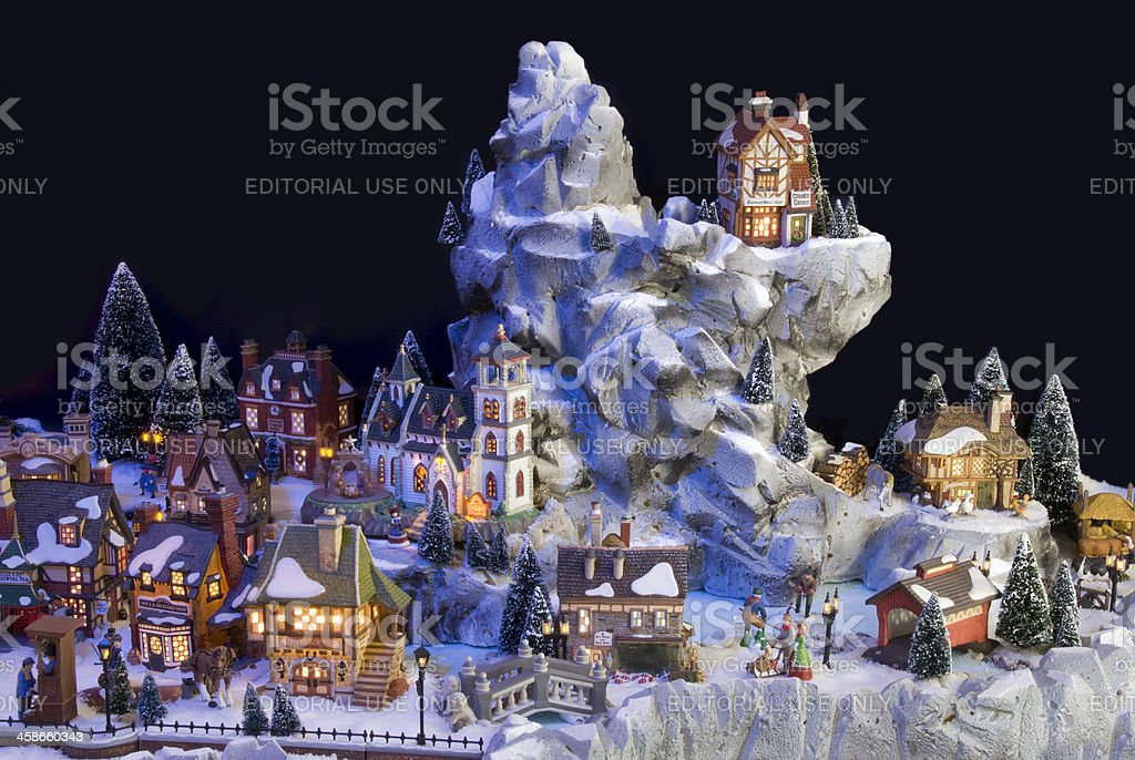 Decorative christmas village with Charles Dickens theme royalty-free stock photo