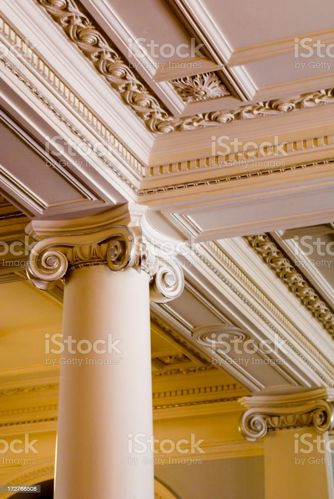 Decorative Columns royalty-free stock photo
