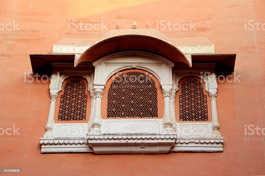 Decorative Concrete Window Frame stock photo