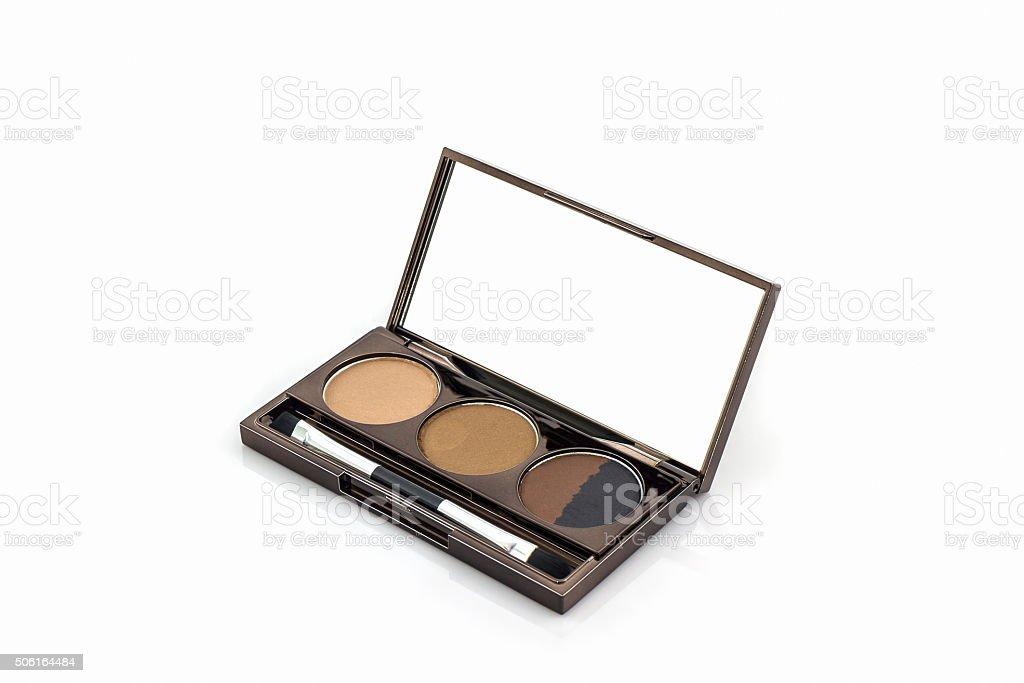 Decorative cosmetic set eyeshadow. stock photo