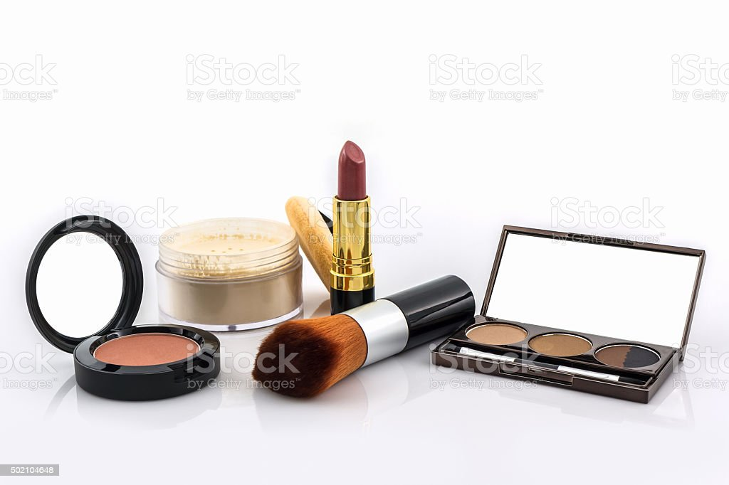 Decorative Cosmetic set. stock photo