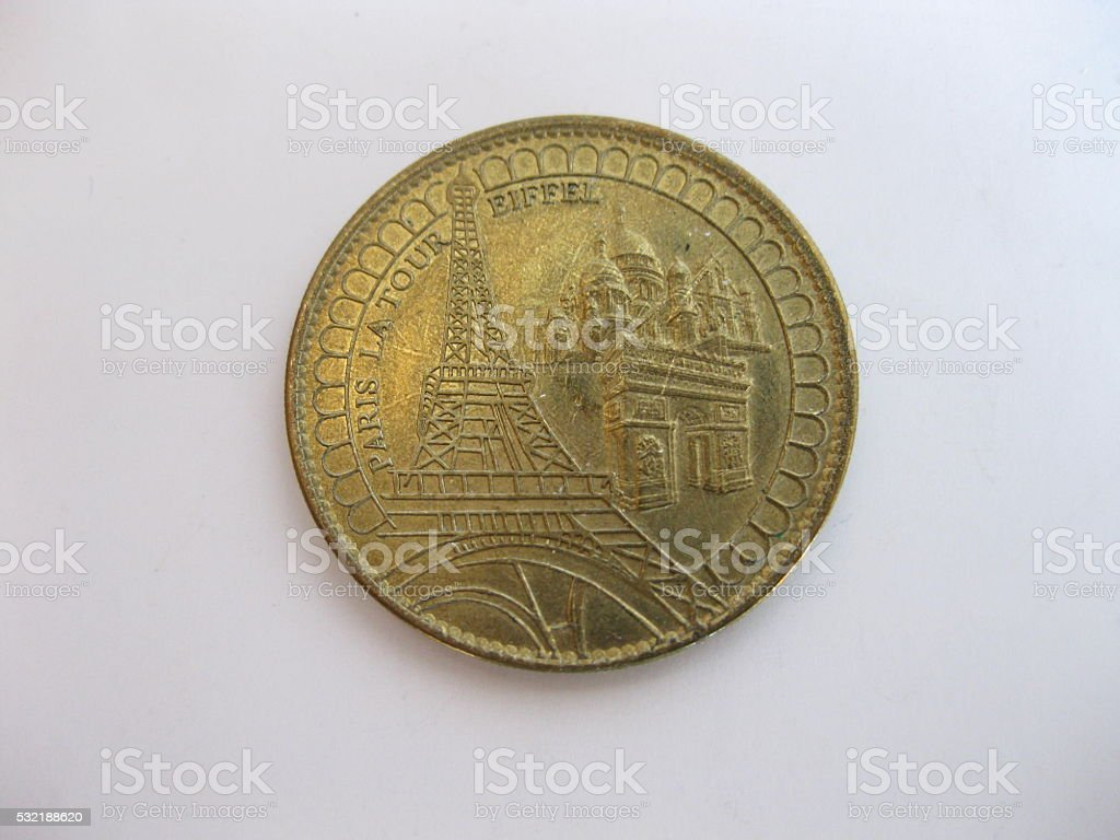 Decorative currency of France. stock photo