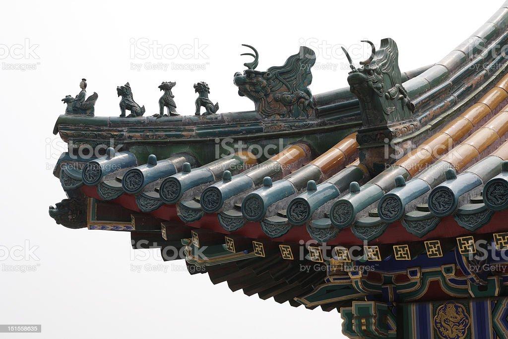 Decorative details at Summer Palace royalty-free stock photo