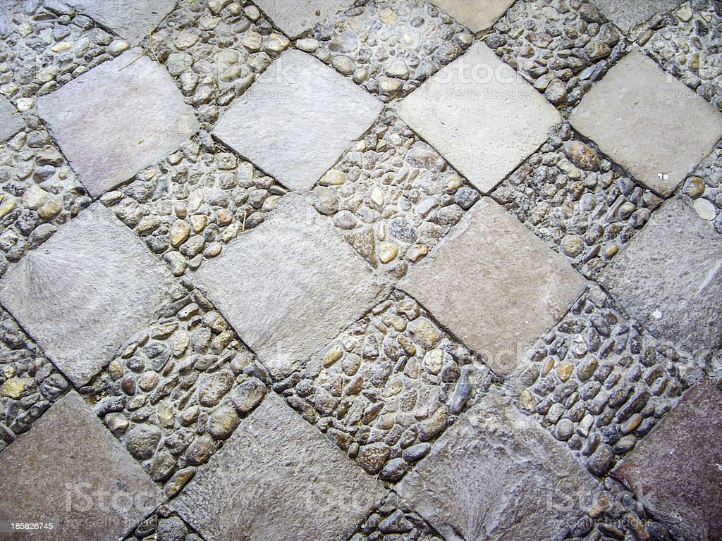 Decorative Diamond Pathway royalty-free stock photo