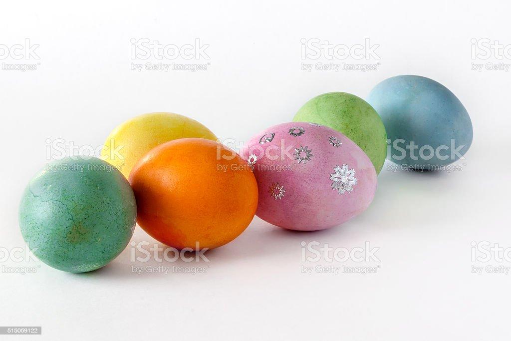 Decorative easter eggs stock photo
