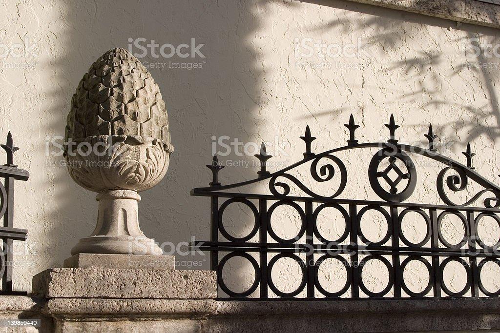 Decorative fence details royalty-free stock photo