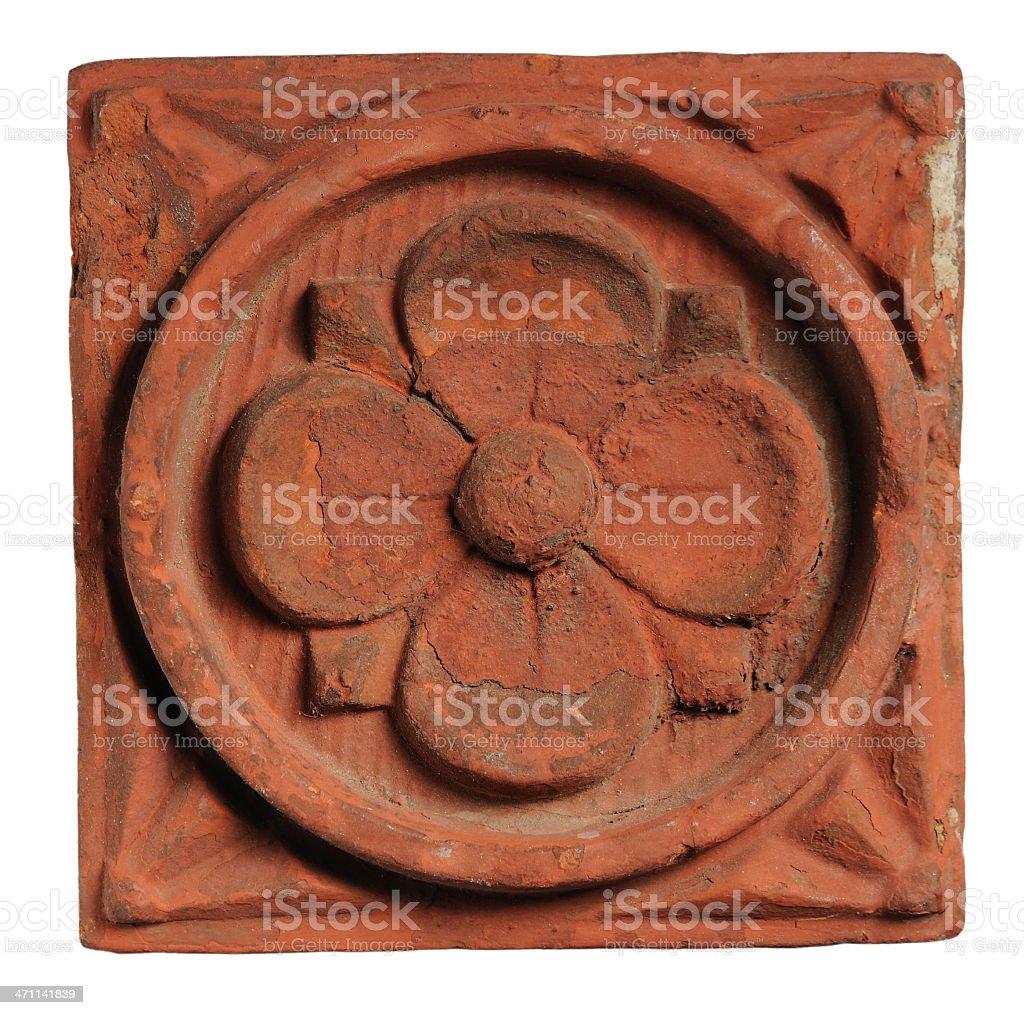 Decorative Floral Brick royalty-free stock photo