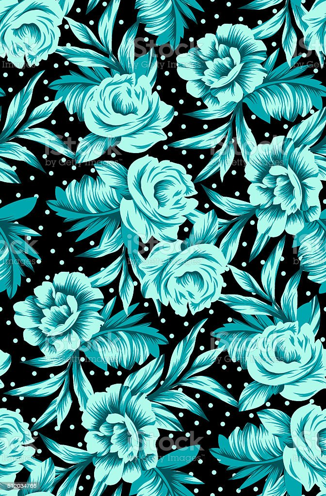 decorative flowers pattern stock photo