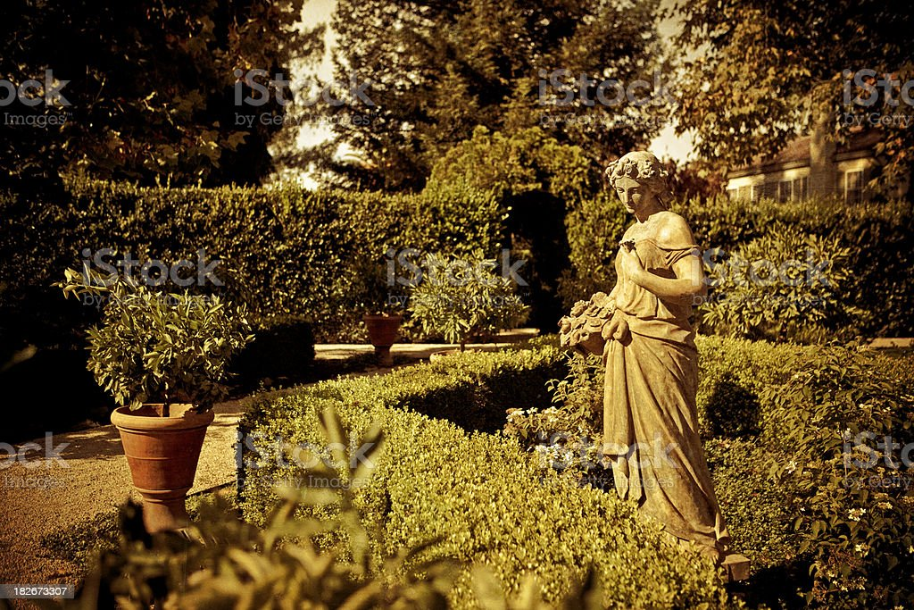 decorative garden in sonoma county stock photo