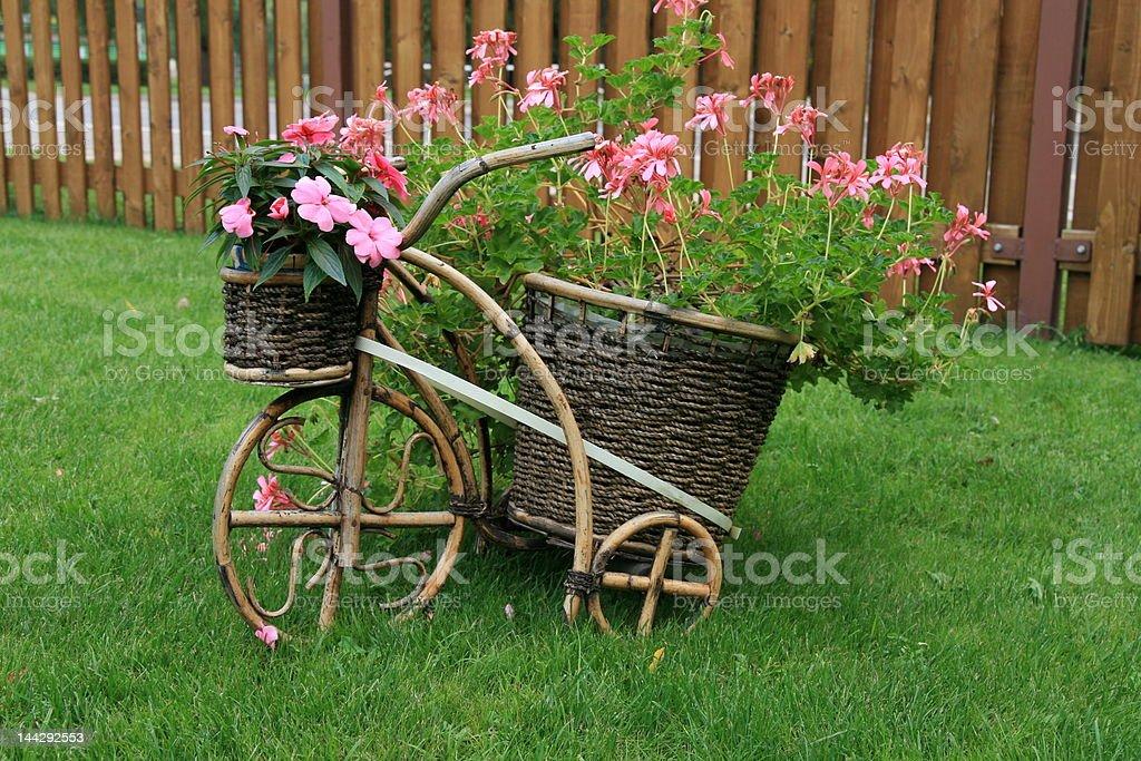 decorative garden pot stock photo