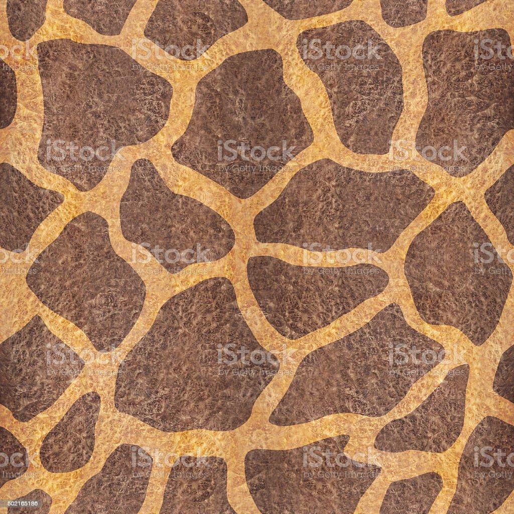 Decorative giraffe pattern - seamless background stock photo