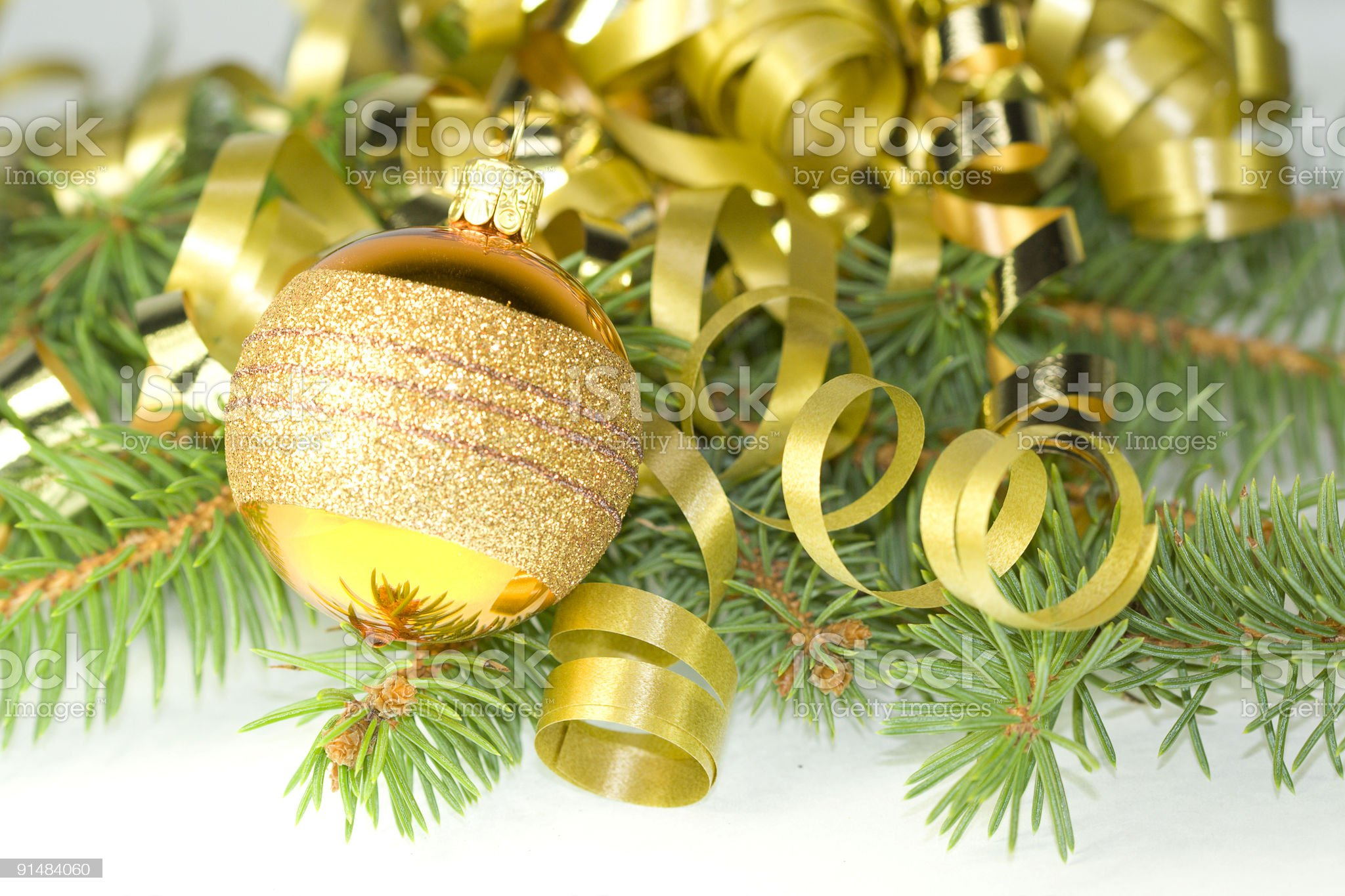 Decorative gold ball royalty-free stock photo