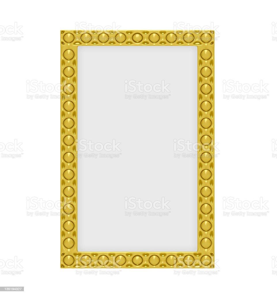 Decorative golden frame royalty-free stock photo