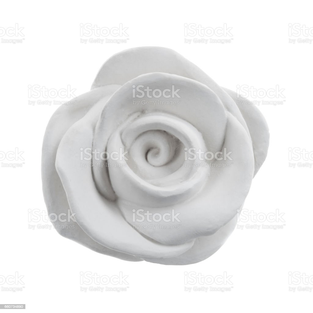 Decorative gypsum rose isolated stock photo