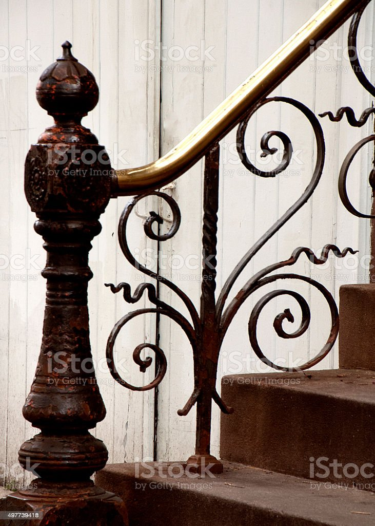 decorative ironwork stock photo
