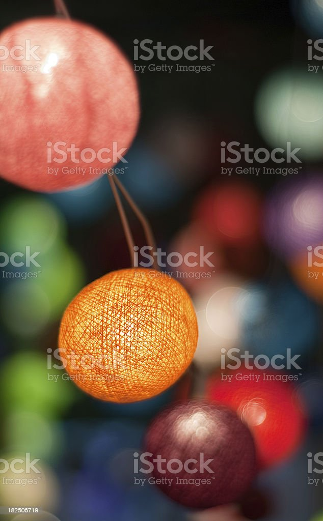 Decorative lights linked together royalty-free stock photo
