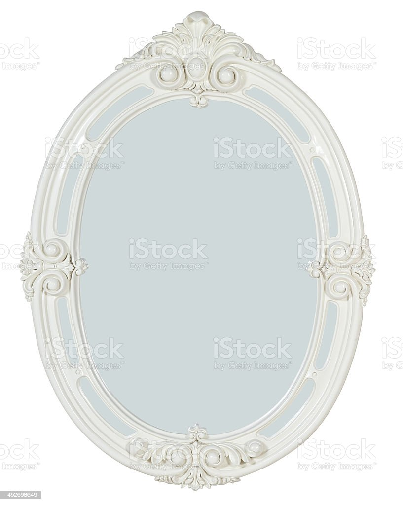 decorative mirror,picture frame  isolated on white with path royalty-free stock photo
