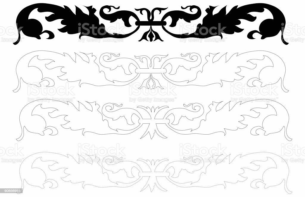 Decorative Molding stock photo