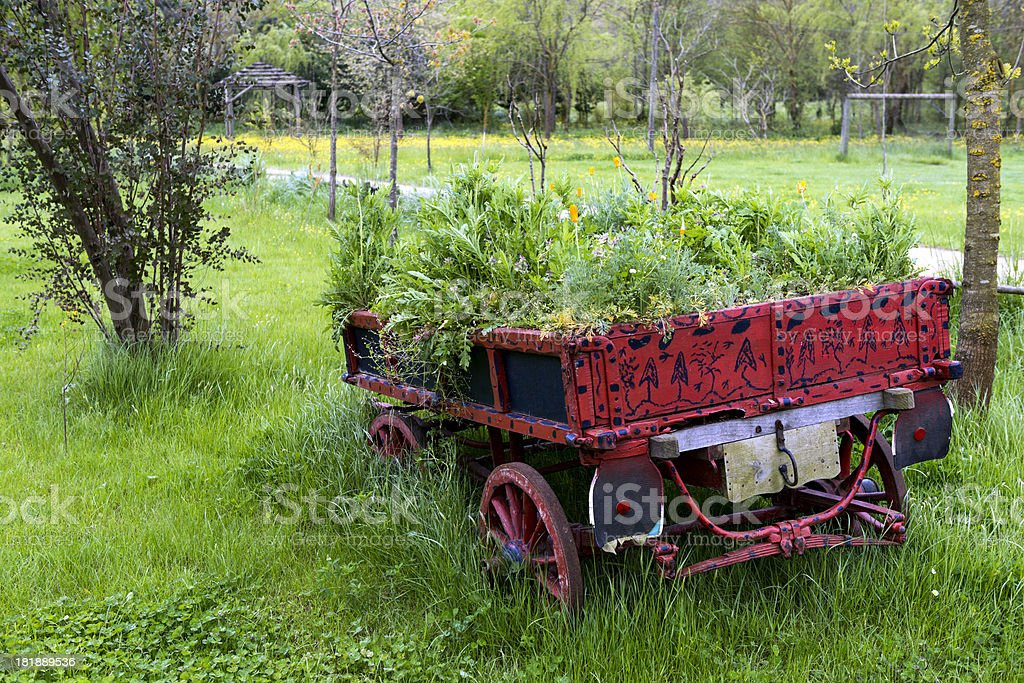 Decorative Old Cart royalty-free stock photo