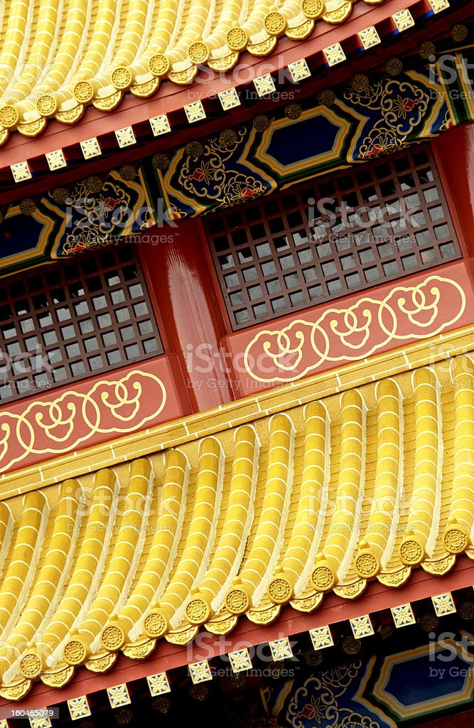 Decorative oriental rooftop royalty-free stock photo