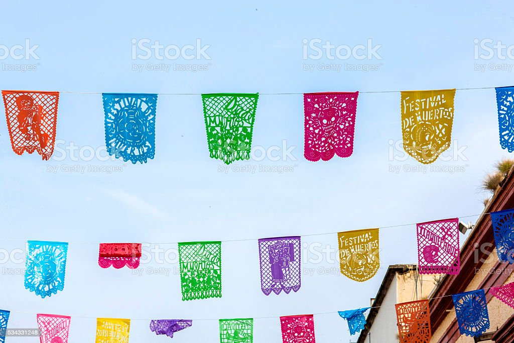 decorative paper for holidays in Mexico stock photo
